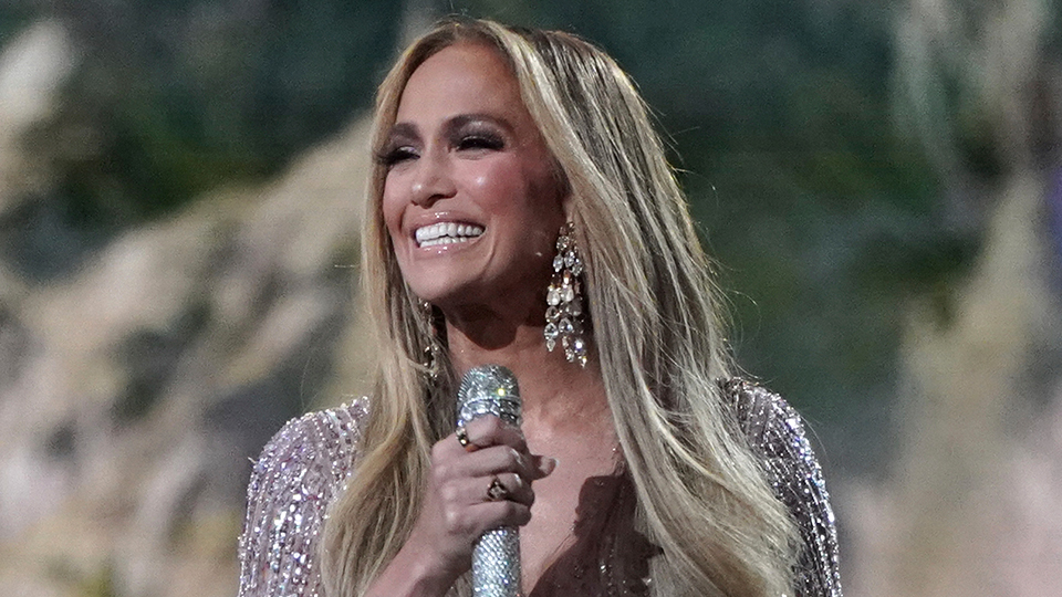 J.Lo Stunned In A Slinky Silver Look During Her VAX LIVE Performance