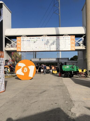 Bitcoin 2021, entrance to the conference