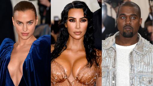 Irina Shayk, Kim Kardashian, Kanye West