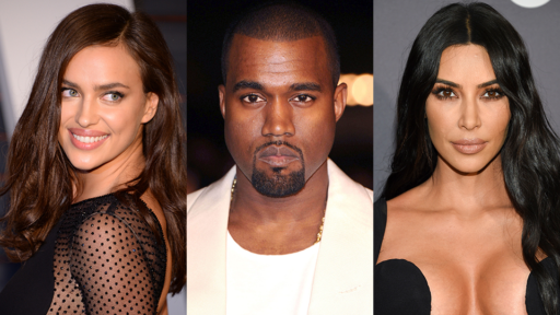 Irina Shayk, Kanye West, Kim Kardashian