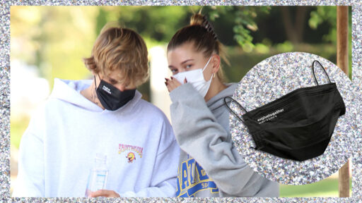 Justin & Hailey Bieber Can't Get Enough Of These Chic, Affordable Face Masks