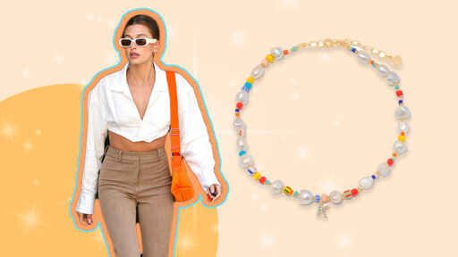 Hailey Bieber's Beaded Choker Is *Somehow* Still In Stock—And It's Affordable