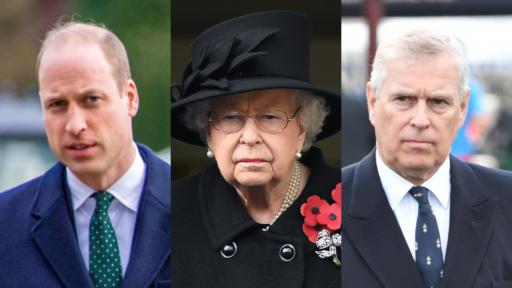 Prince William, Queen Elizabeth, Prince Andrew