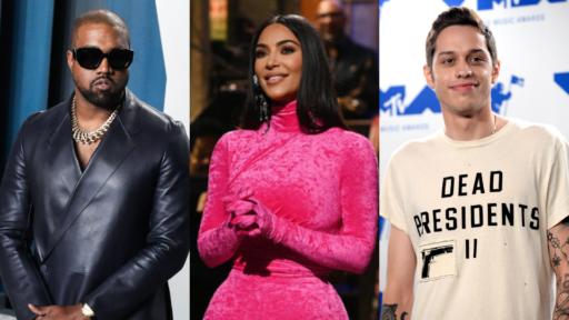 Kanye West, Kim Kardashian, Pete Davidson