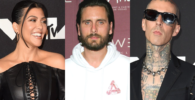 Kourtney Kardashian, Scott Disick and Travis Barker
